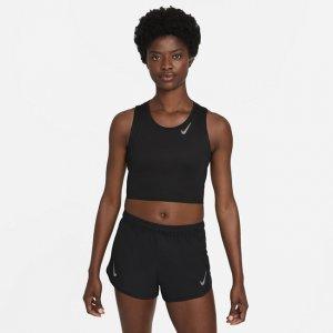 Женская укороченная майка для бега Dri-FIT Race - Черный Nike