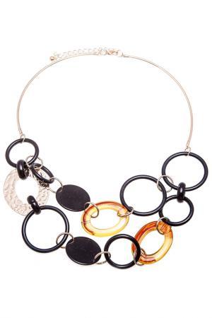 Колье Boho Chic. Цвет: черный, оранжевый, золотой