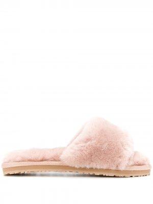 Шлепанцы с открытым носком Mou. Цвет: розовый