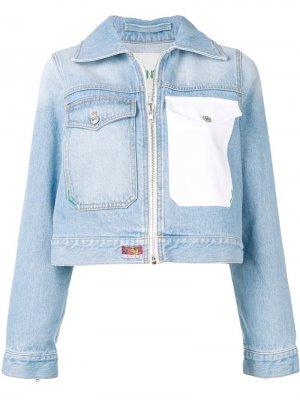 Джинсовая куртка Roses с логотипом Kenzo. Цвет: синий