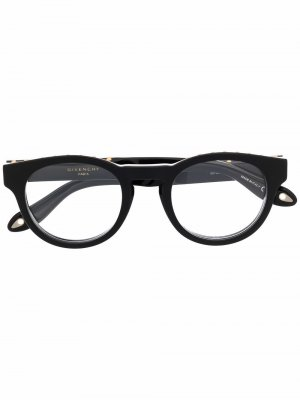 Очки в круглой оправе Givenchy Eyewear. Цвет: черный