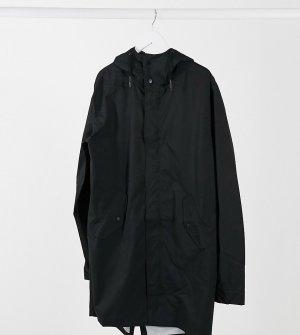 Черная длинная непромокаемая ветровка Tall-Черный ASOS DESIGN