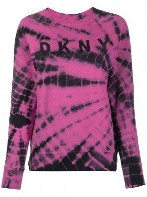 Джемпер с принтом тай-дай DKNY. Цвет: розовый