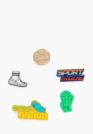 Джиббитсы Crocs 5 шт.. Цвет: разноцветный