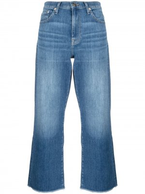 Широкие джинсы 7 For All Mankind. Цвет: синий