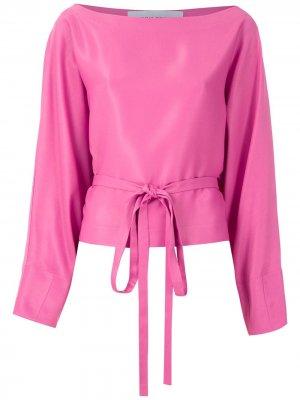 Блузка с завязками на талии Gloria Coelho. Цвет: розовый