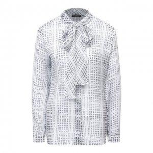 Шелковая блузка Emporio Armani. Цвет: белый