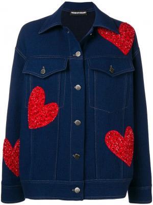 Джинсовая куртка оверсайз с пайетками House of Holland