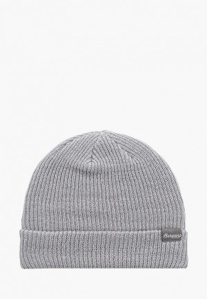 Шапка Bergans of Norway Rib Beanie. Цвет: серый