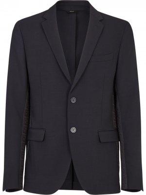 Пиджак с логотипом Fendi. Цвет: черный