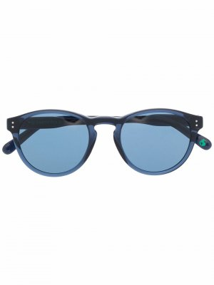 Солнцезащитные очки в круглой оправе Polo Ralph Lauren. Цвет: синий
