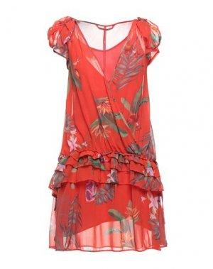 Короткое платье DESIGUAL. Цвет: красный