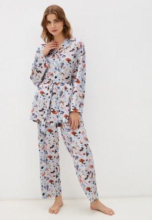Пижама Argent. Цвет: голубой
