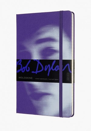 Блокнот Moleskine BOB DYLON. Цвет: фиолетовый