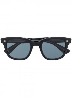 Солнцезащитные очки Calabar в круглой оправе Garrett Leight. Цвет: черный