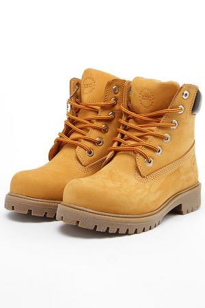 Ботинки Excavator. Цвет: желтый