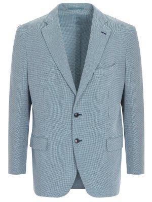 Пиджак классический хлопковый ANDREA CAMPAGNA. Цвет: зеленый