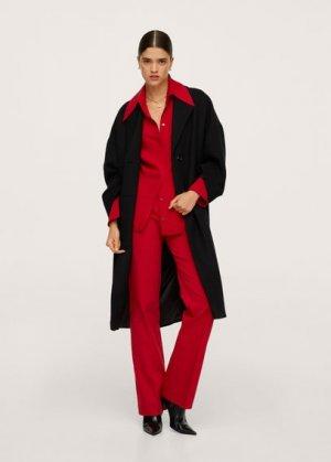 Расклешенные брюки из хлопка - Higalia Mango. Цвет: красный