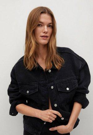 Куртка джинсовая Mango - RACHEL. Цвет: черный