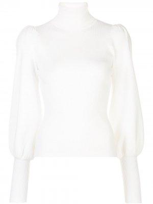 Джемпер в рубчик с высоким воротником A.L.C.. Цвет: белый