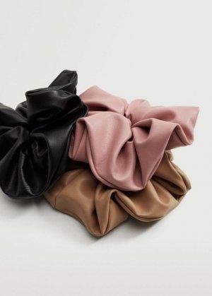 Комплект 3 резинки для волос - Sandy Mango. Цвет: черный