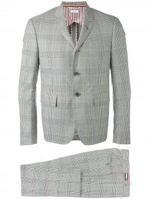 Классический костюм-двойка Thom Browne. Цвет: серый