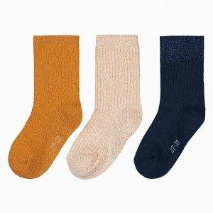 Комплект из 3 пар носков La Redoute. Цвет: разноцветный