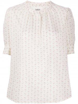 Блузка с короткими рукавами и вышивкой Ba&Sh. Цвет: нейтральные цвета