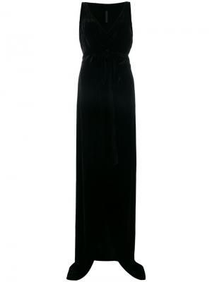 Бархатное платье с запахом Gareth Pugh. Цвет: черный