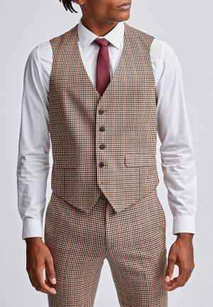 Жилет Burton Menswear London. Цвет: бежевый
