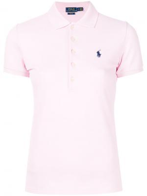 Рубашка-поло кроя слим Polo Ralph Lauren. Цвет: розовый