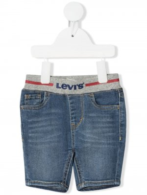 Levis Kids джинсовые шорты с эластичным поясом Levi's. Цвет: синий