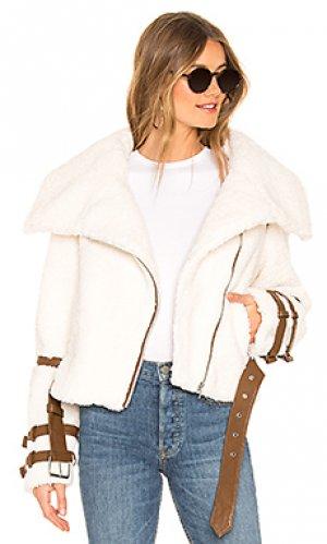 Куртка из экомеха bailey Tularosa. Цвет: светло-бежевый