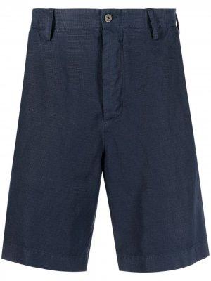 Фактурные брюки чинос средней посадки Boglioli. Цвет: синий