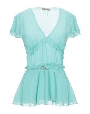 Блузка BETTY BLUE. Цвет: бирюзовый