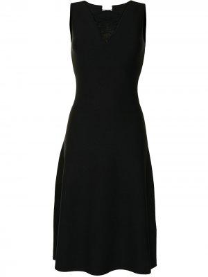 Платье без рукавов со шнуровкой Salvatore Ferragamo. Цвет: черный
