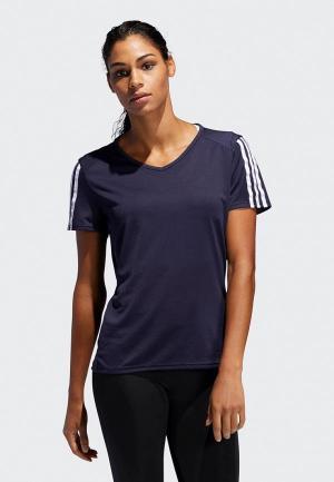 Футболка спортивная adidas RUN 3S TEE W. Цвет: синий