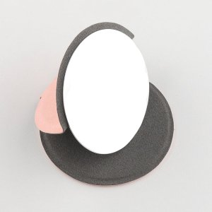 Настольное круглое зеркало для макияжа SHEIN. Цвет: розовые