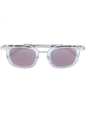 Солнцезащитные очки Gendery в квадратной оправе Thierry Lasry. Цвет: золотистый