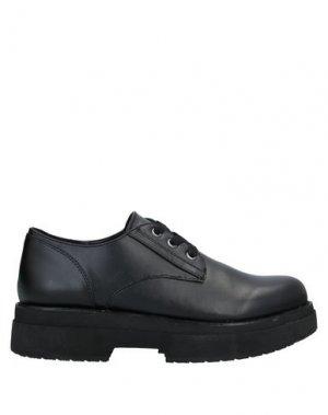 Обувь на шнурках FORNARINA. Цвет: черный