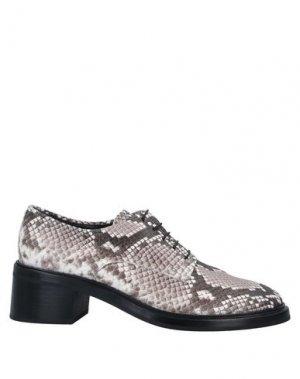 Обувь на шнурках AGL ATTILIO GIUSTI LEOMBRUNI. Цвет: голубиный серый