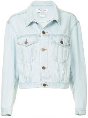 Buttoned denim jacket We11done. Цвет: синий