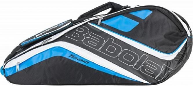 Сумка теннисная Racket Holder X 6 Team Line Babolat. Цвет: черный