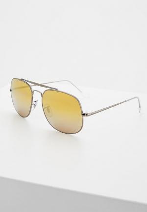 Очки солнцезащитные Ray-Ban® RB3561 004/I3. Цвет: серебряный