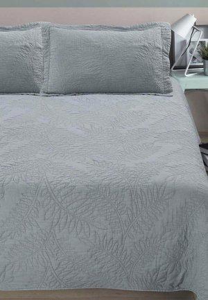 Комплект с покрывалом Arya home collection Blossom. Цвет: серый