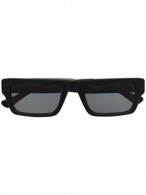 Солнцезащитные очки Hughes в прямоугольной оправе AMBUSH. Цвет: черный