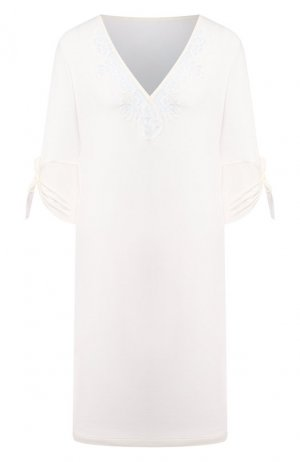 Сорочка из вискозы La Perla. Цвет: белый