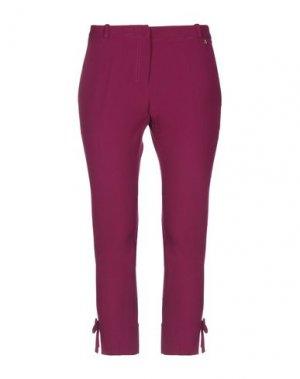 Брюки-капри ANNARITA N. Цвет: пурпурный