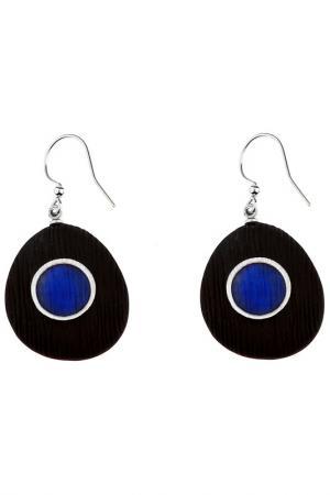 Серьги Culture Mix. Цвет: синий, черный