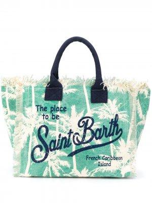 Пляжная сумка с логотипом Mc2 Saint Barth. Цвет: нейтральные цвета